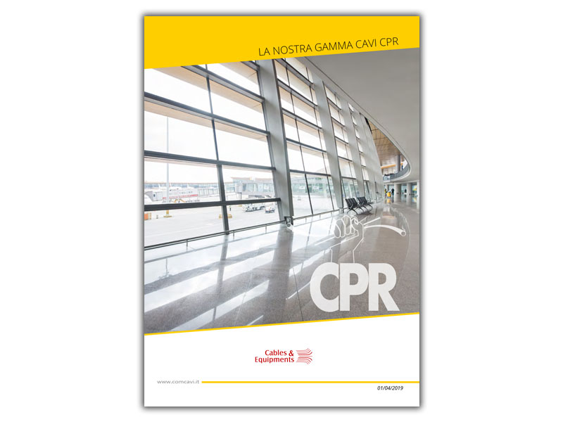 Catalogo cavi CPR
