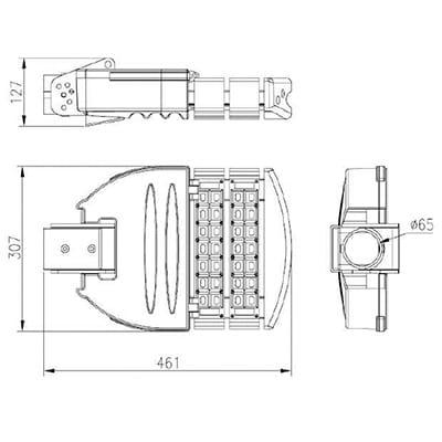 Armature-stradali-led-60-W-2-moduli-dimensioni