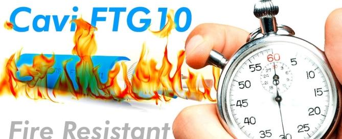 Cavi FTG10 resistenti al fuoco